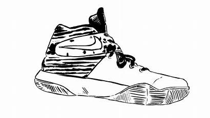 Shoes Coloring Pages Vans Nike Printable Colori