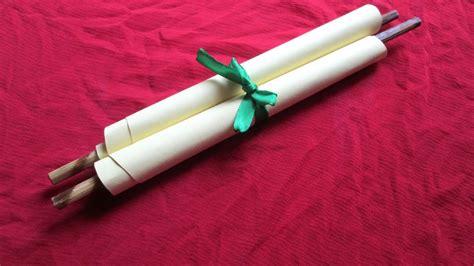create  pretty rolled invitation card diy crafts
