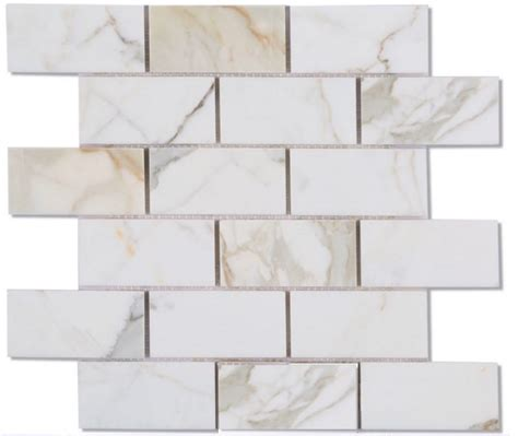 calacatta gold italian marble 2x4 quot subway tile honed mosaic