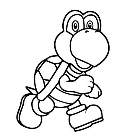 Kleurplaat Mario Op Yoshi by Leuk Voor Koopa Troopa