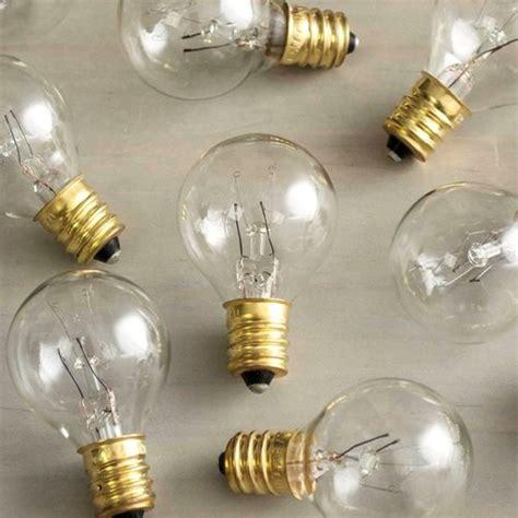 replacement globe light bulb g30 5w 130v e12 base