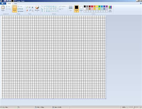making graph paper  ms paint   build addon