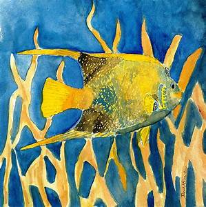 Tropical Fish Art Print Painting by Derek Mccrea