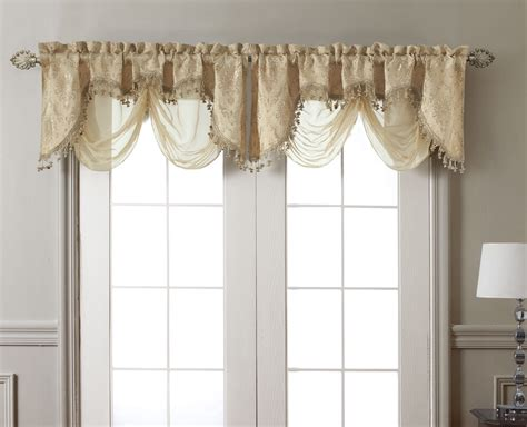 New Elegant Kasbah Gold Clipped Jacquard W Sheer Window