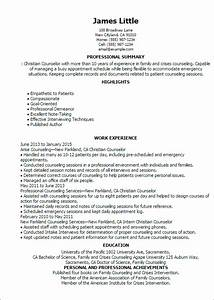 Professional christian counselor templates to showcase for Christian resume