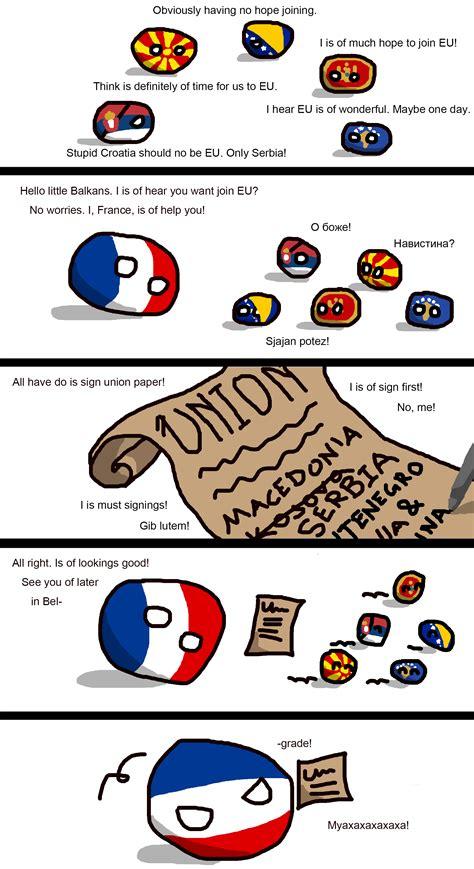 polandball polandball comics     balkan