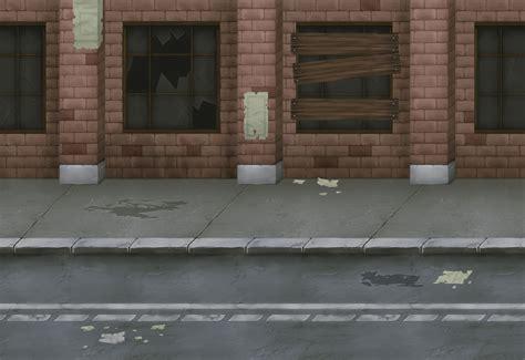 abandon city seamless background opengameartorg