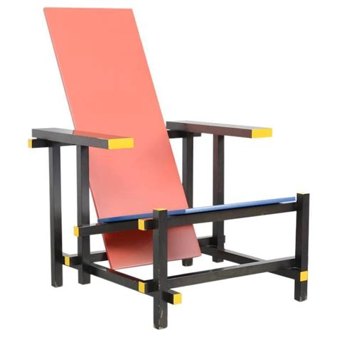 and blue chair by gerrit rietveld for cassina for sale
