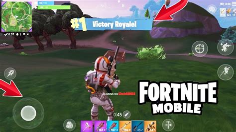 fortnite battle royale mobile gameplay