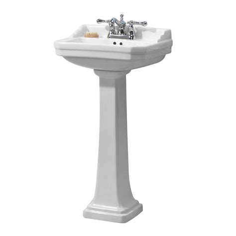 Foremost Series 1920 Pedestal Combo Bathroom Sink In White
