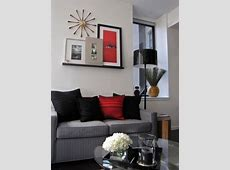 Nice Red Living Room And Ideas Black Good Small Color