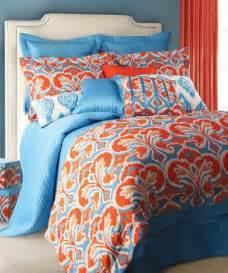 light blue orange ikat comforter set zulily zulilyfinds bedding pinterest group