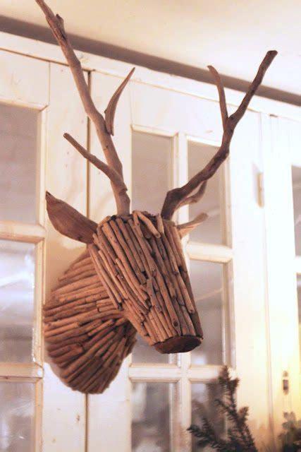 unique wall decor twig deer sawdust girl 174