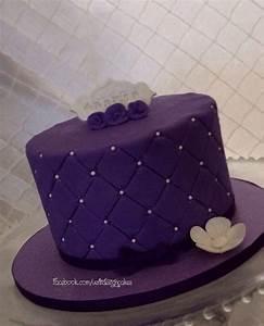 Purple birthday cake. Facebook.com/VentidesignCakes ...