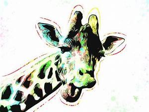 """Stunning """"Pop Art Giraffe"""" Artwork For Sale on Fine Art Prints"""