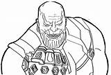 Coloring Thanos Comments sketch template