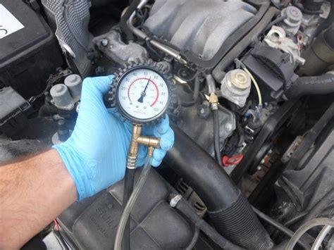 check fuel pressure  fuel pump testing car