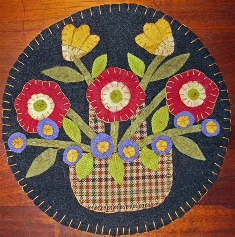 536 Best Wool Felt Rugs Candle Mats Images On