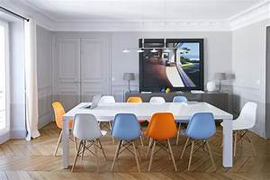 appartement dans le marais paris domozoomcom With salle À manger contemporaine avec mobilier bureau scandinave