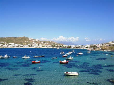 Ornos Beach Great Choice Of Hotels And Restaurants On Mykonos