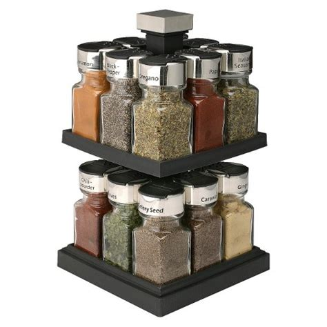 Thompson Spice Rack by Olde Thompson 174 Square Rotating 16 Jar Spice Rack Target
