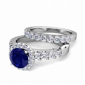 build your own halo engagement ring bridal set in pave With build your own wedding ring set
