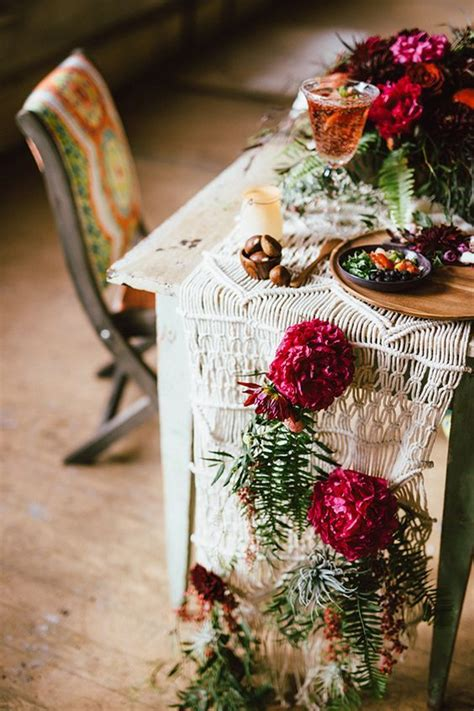 boho chic table ls 27 bold boho chic fall wedding ideas weddingomania