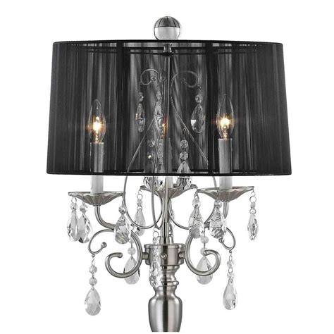 Black Chandelier Shade by Chandelier Floor L With Black Drum Shade In