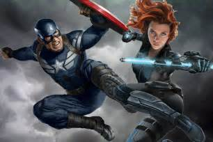 Marvel Black Widow and Captain America