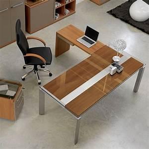 Bureau D Angle En Bois : bureau d 39 angle en bois m tal et verre gautier office bureau pinterest bois metal ~ Melissatoandfro.com Idées de Décoration