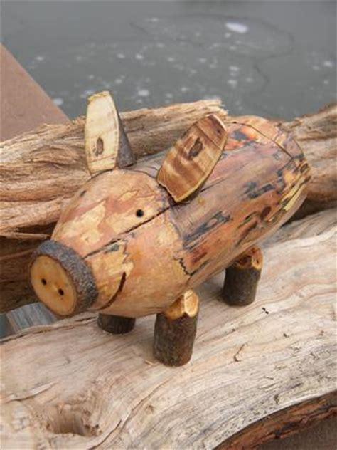 country decor firewood piggy bank