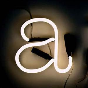 neon art wall light letter a white black cable by seletti With neon art letters