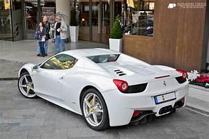 White Ferrari 458 Italia Spider Related Keywords ...