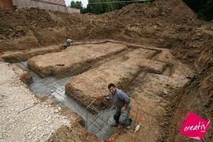 maison a etage entree a demi niveau de maisons creativ allison With maison en beton coule 5 fondations fondation maison etage les etapes de construction