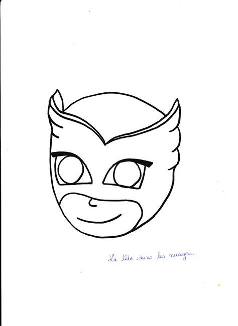 Des dessins à imprimer pour les artistes en culotte courte. Masque à imprimer : Bibou, Pyjamasque.