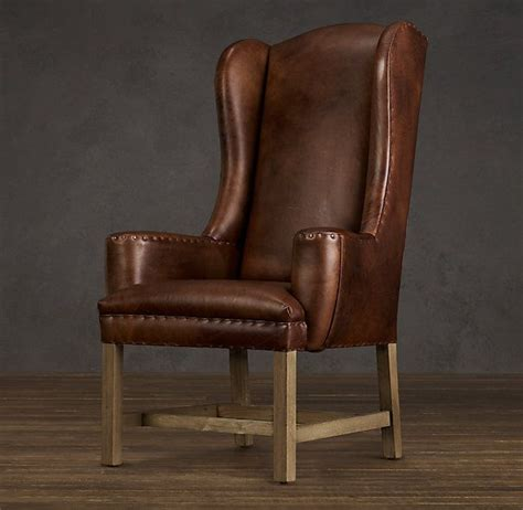 belfort wingback leather dining chair house