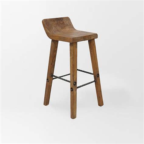 hewn wood bar stool counter stool west elm