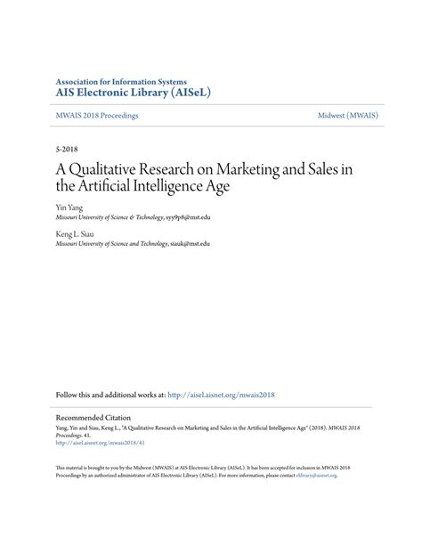 (PDF) A Qualitative Research on Marketing and Sales in the