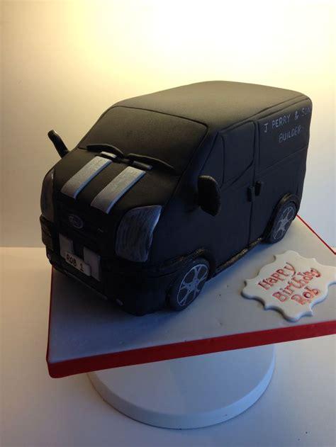 ford transit van cake fondant vehicles pinterest
