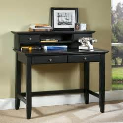 bedford solid wood laptop writing desk with hutch in ebony