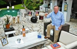 wedding costs my andrew neil the journalist and broadcaster on the terrace of his home in grasse in