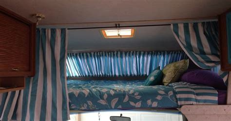 privacy curtains    cab bed area  rv