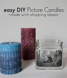 diy picture candle holders made with shipping labels With diy shipping label