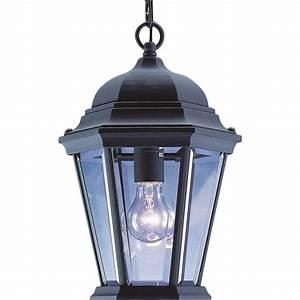 Home Depot Light Fixture Installation Volume Lighting 1 Light Black Outdoor Pendant V8222 5