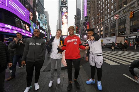heisman burrow joe finalists trophy press ohio york football state trust todd hurts lsu fields justin meet jalen winners