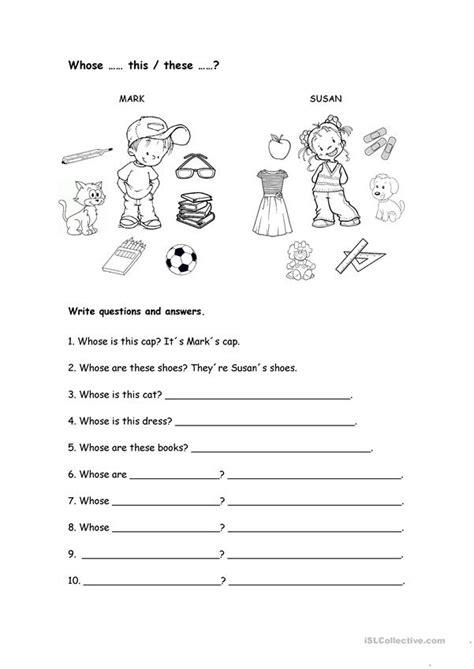 Whose Worksheet Worksheet  Free Esl Printable Worksheets Made By Teachers