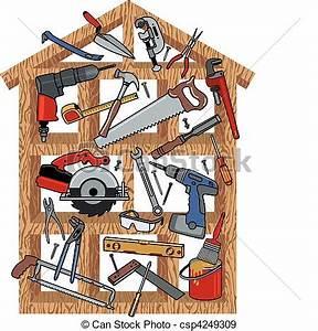 Vecteurs EPS de maison, construction - construction