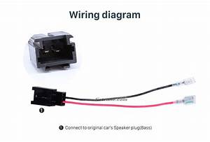 Hot Wiring Harness Adapter Speaker Sound Cable For Peugeot