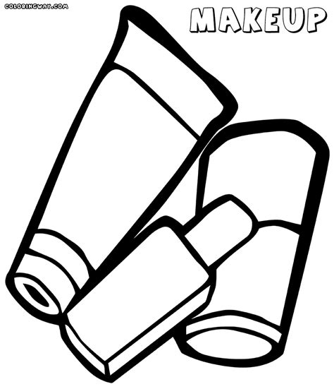 Coloring With Makeup by Makeup Coloring Pages Coloring Pages To And Print