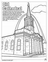 Coloring Cathedral Louis Saint Lesson Drawing sketch template